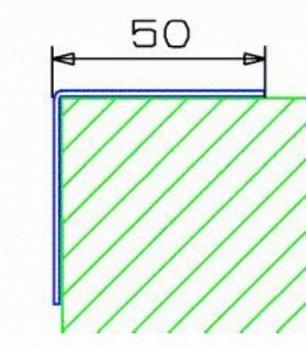 Πλαστικό προστατευτικό γωνιών 50χ50 χιλ  ZKNL ZK-F